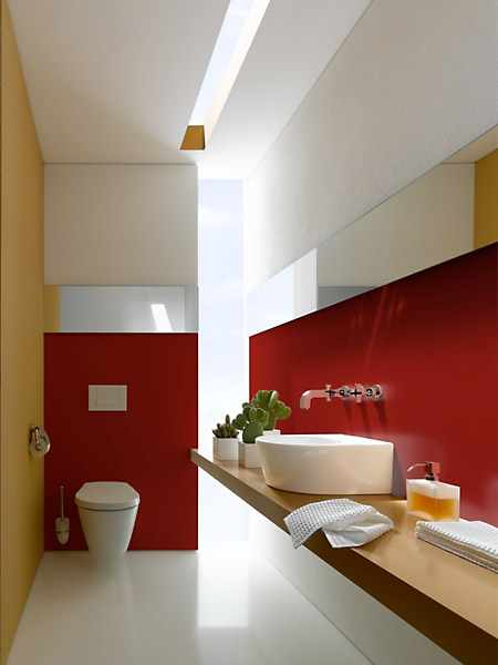 hotel renovation - exclusive bath design red