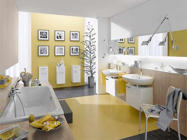 hotel renovation - exclusive bath design yellow